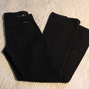 7 for all mankind, black boot cut size 30